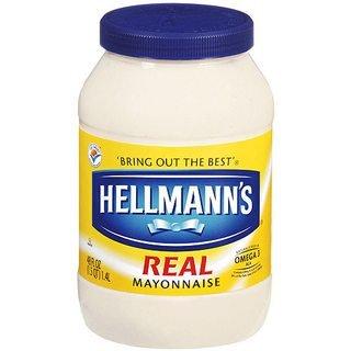 Hellman's mayo jar